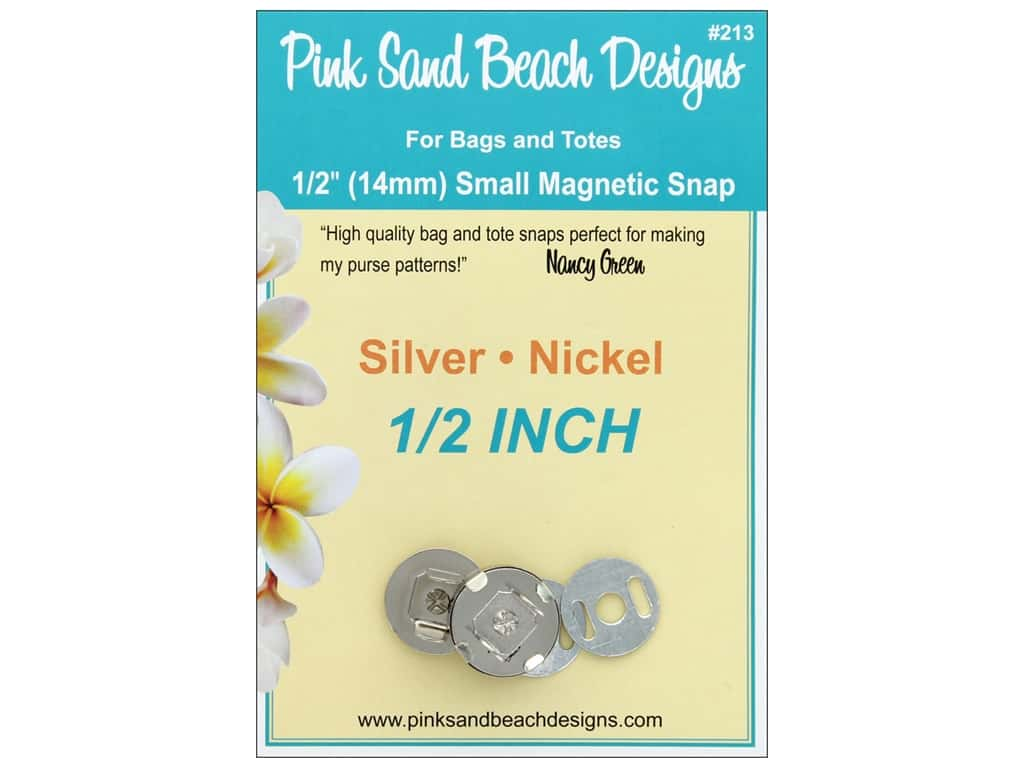 Pink Sand Beach Snap Silver .5 in.