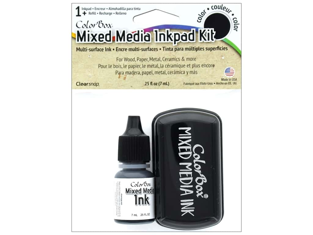 ColorBox Mixed Media Ink Pad Kit Black
