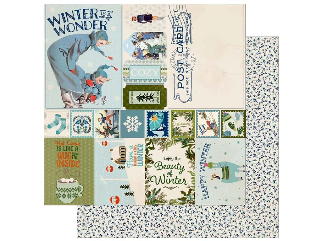Authentique Collection Alpine Paper  12 in. x 12 in.  Eight (25 pieces)