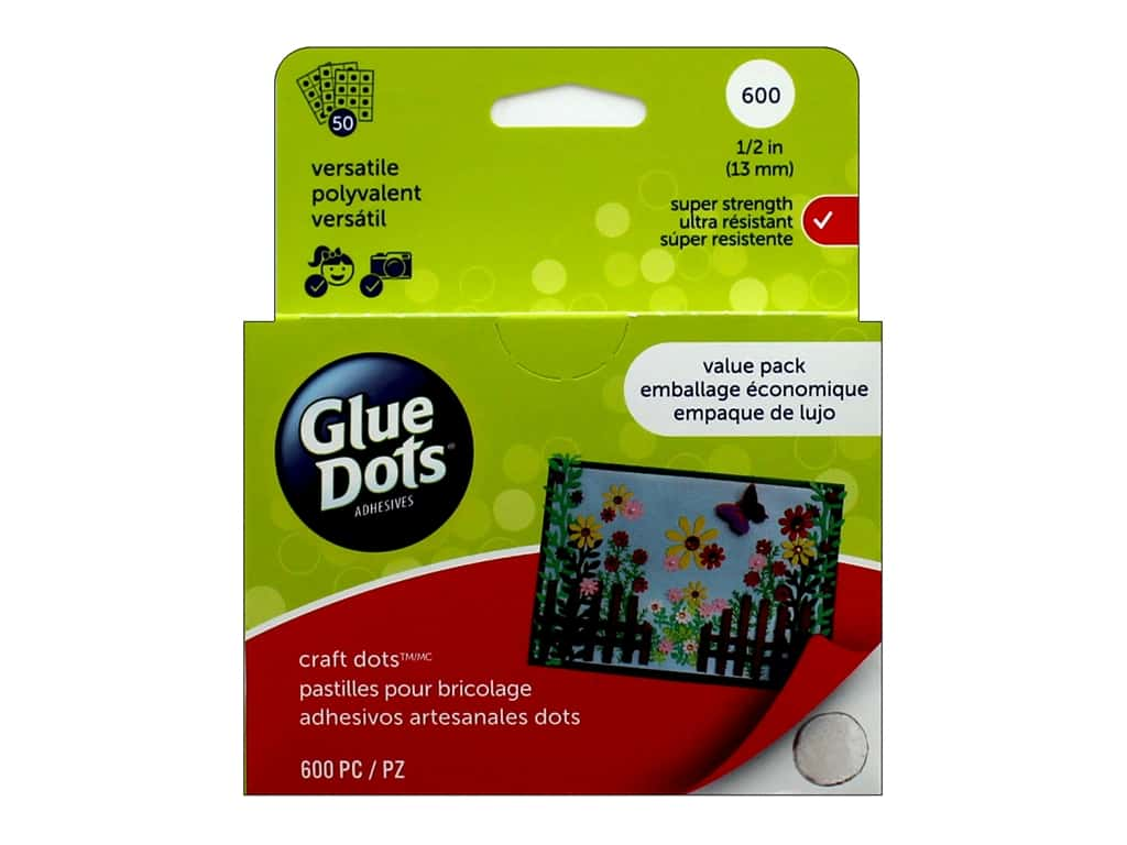 Glue Dots 1/2 in. Craft Dots - Value Pack