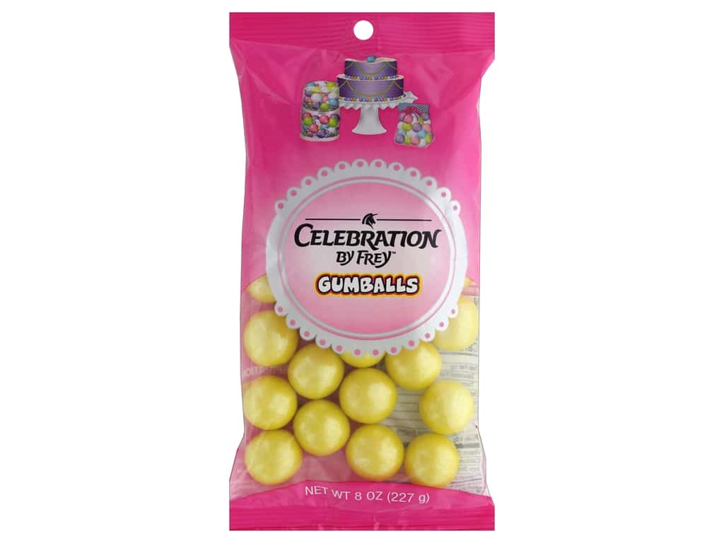 SweetWorks Celebration Gumballs 8 oz. Shimmer Yellow