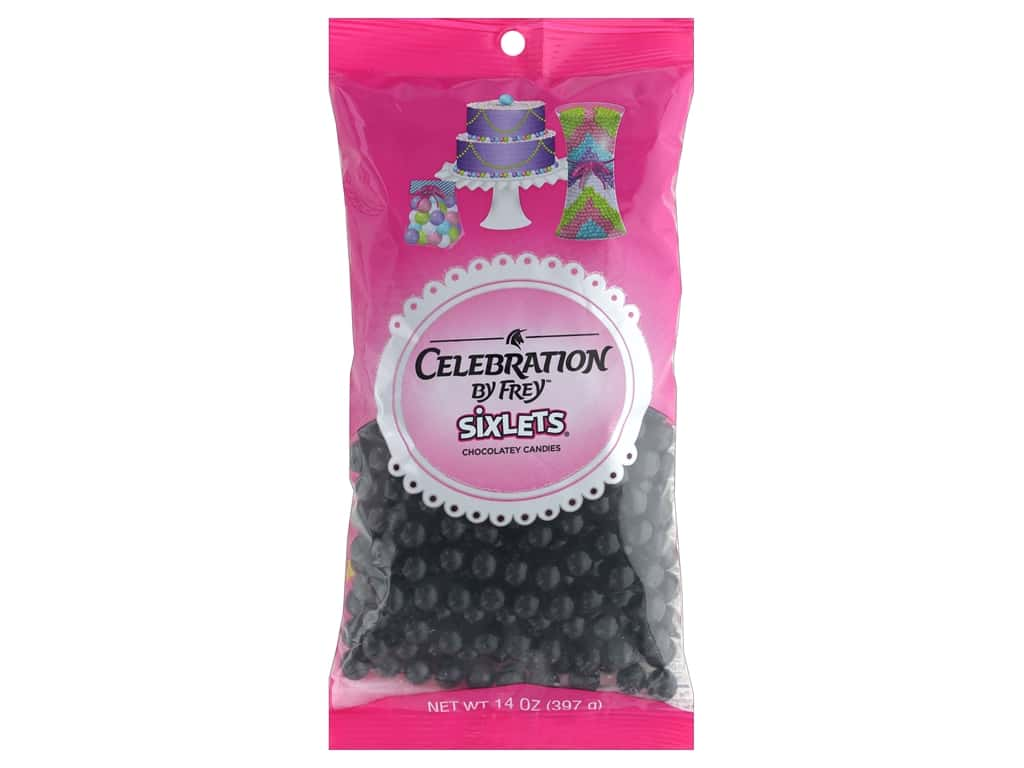 SweetWorks Celebration Sixlets 14 oz. Black