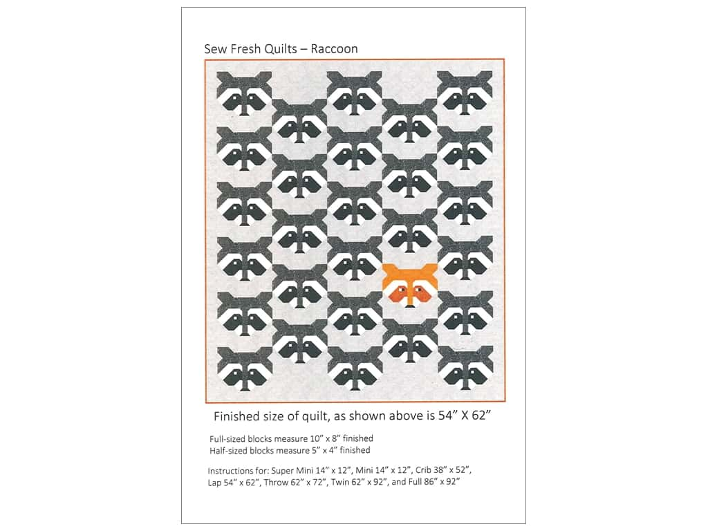 Sew Fresh Quilts Raccoon Pattern