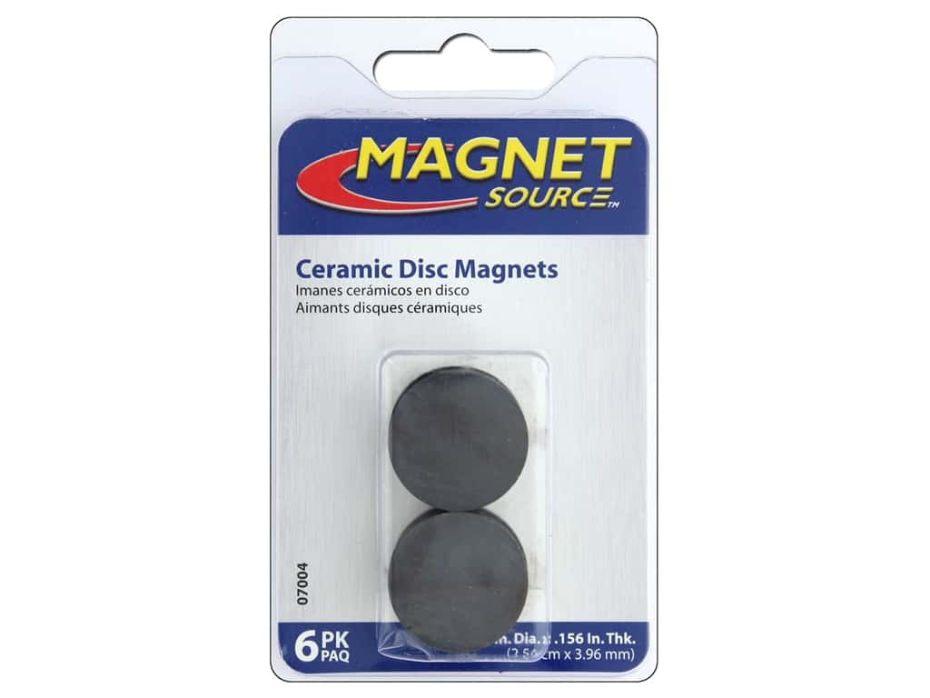 The Magnet Source Ceramic Disc Magnets 1 In 6 Pc