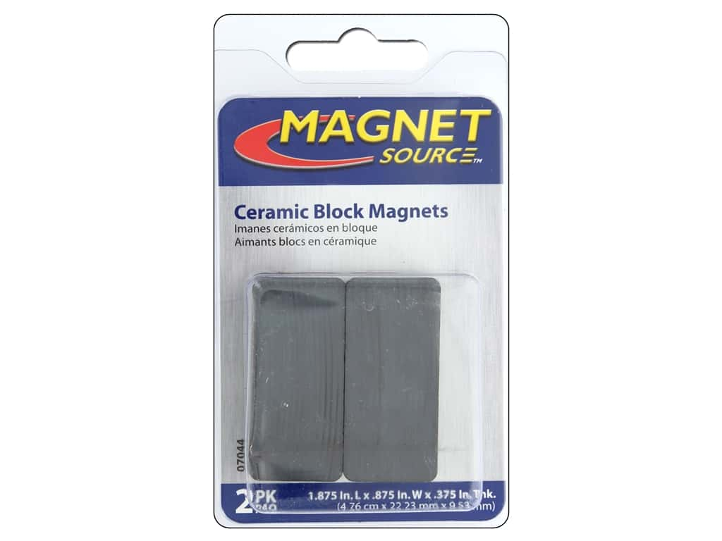 Ceramic Block Magnets 3 8 X 7 8 X 1 7 8 In 2 Pc