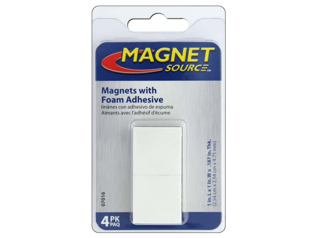 The Magnet Source High Energy Adhesive Magnets 1 in. Square 4 pc.