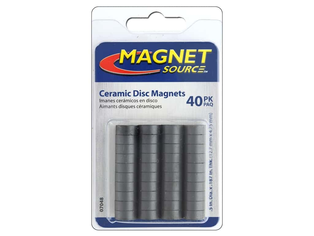 The Magnet Source Ceramic Disc Magnets 1/2 in. 40 pc.