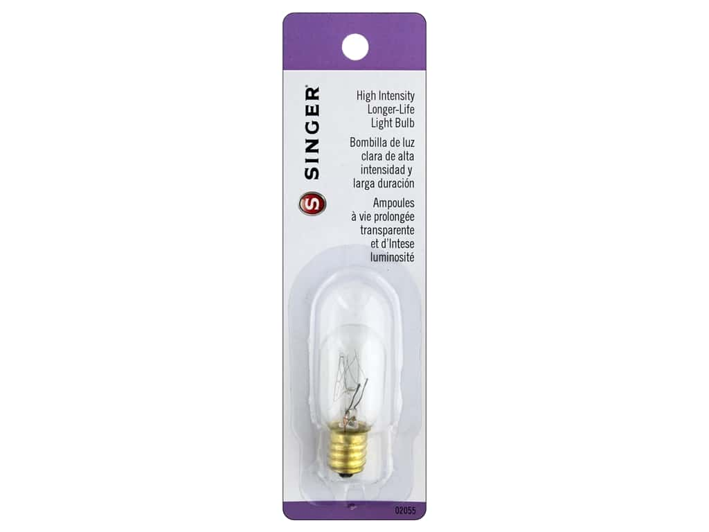 Singer Notions Machine Light Bulb Long-Life Clear Hi-Intensity