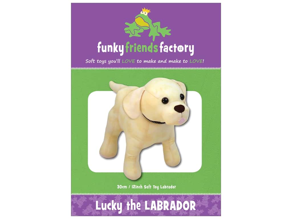 Funky Friends Factory Lucky the Labrador Pattern