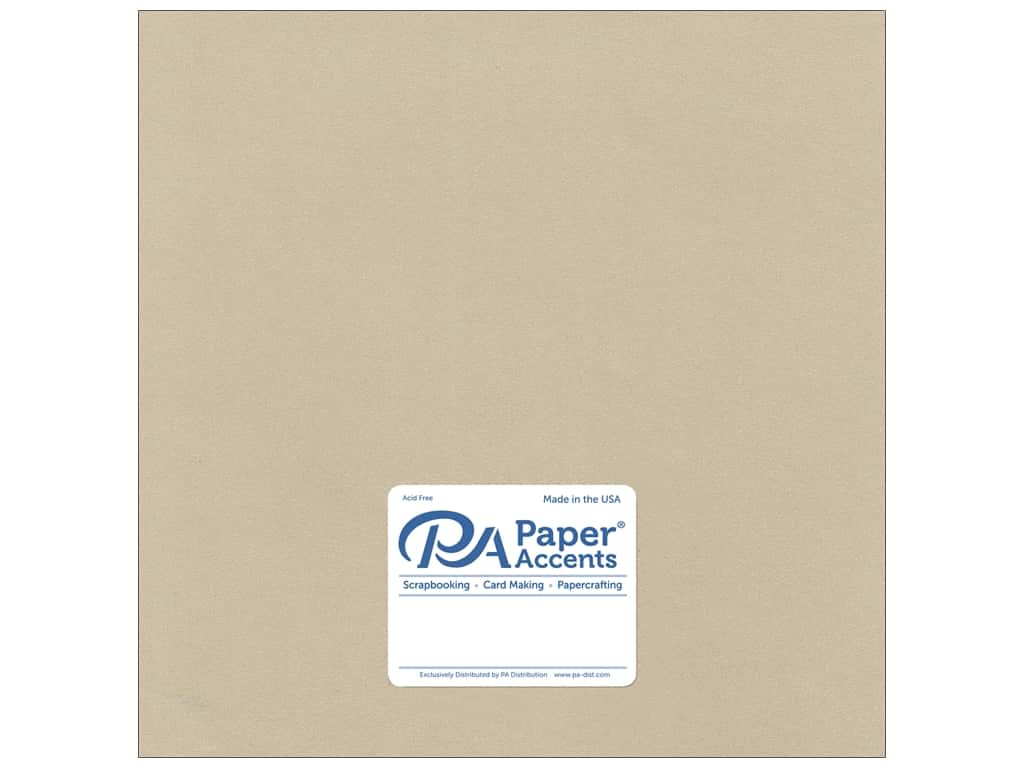 Paper Accents Cardstock 12 x 12 in. #8838C Pearlized Taupe 25 pc.