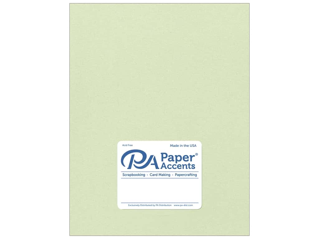 Paper Accents Cardstock 8 1/2 x 11 in. #8842C Pearlized Honeydew 25 pc.