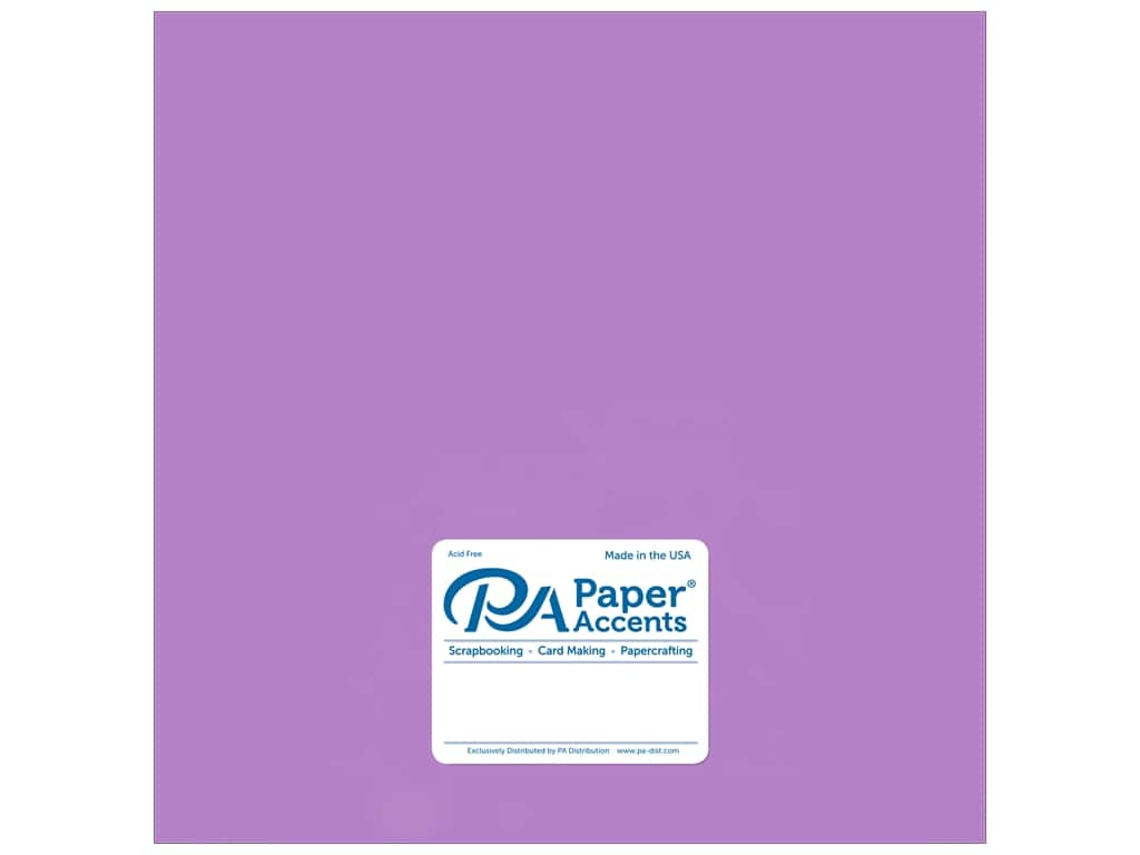 Paper Accents Cardstock 12 x 12 in. #875C Pearlized Amethyst 25 pc.
