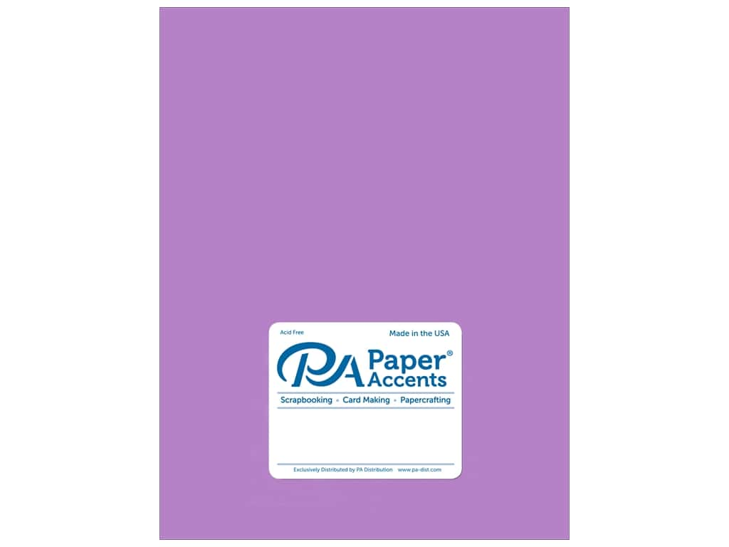 Paper Accents Cardstock 8 1/2 x 11 in. #875C Pearlized Amethyst  25 pc.