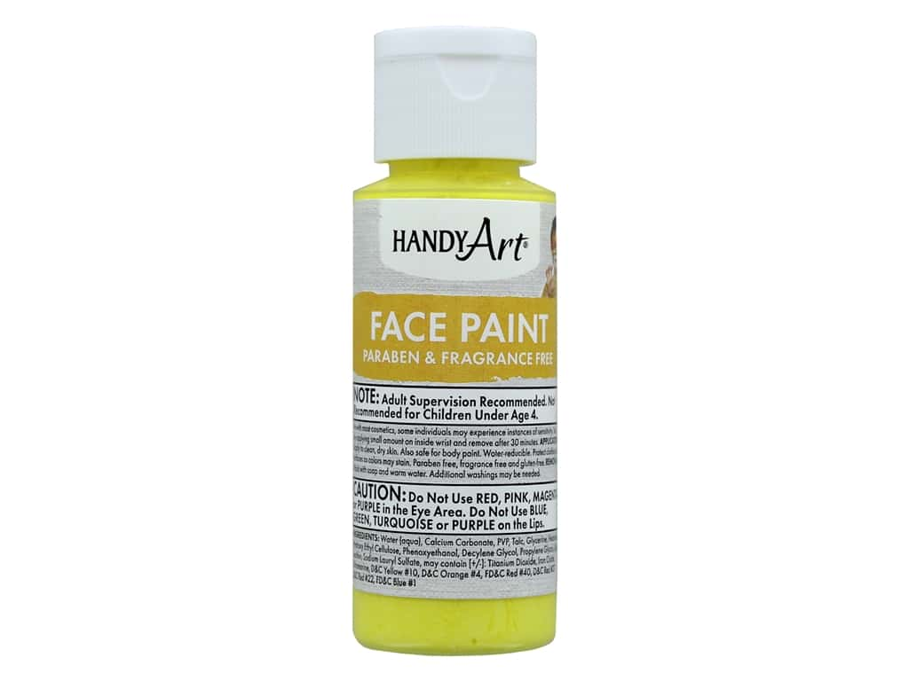 Handy Art Face Paint 2 oz Yellow
