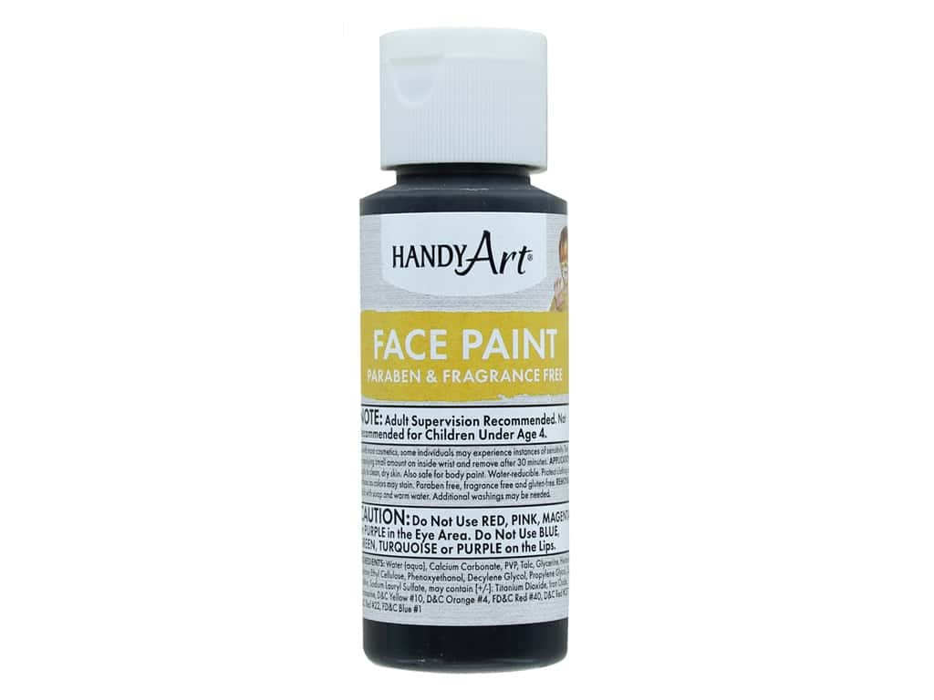 Handy Art Face Paint 2 oz Black