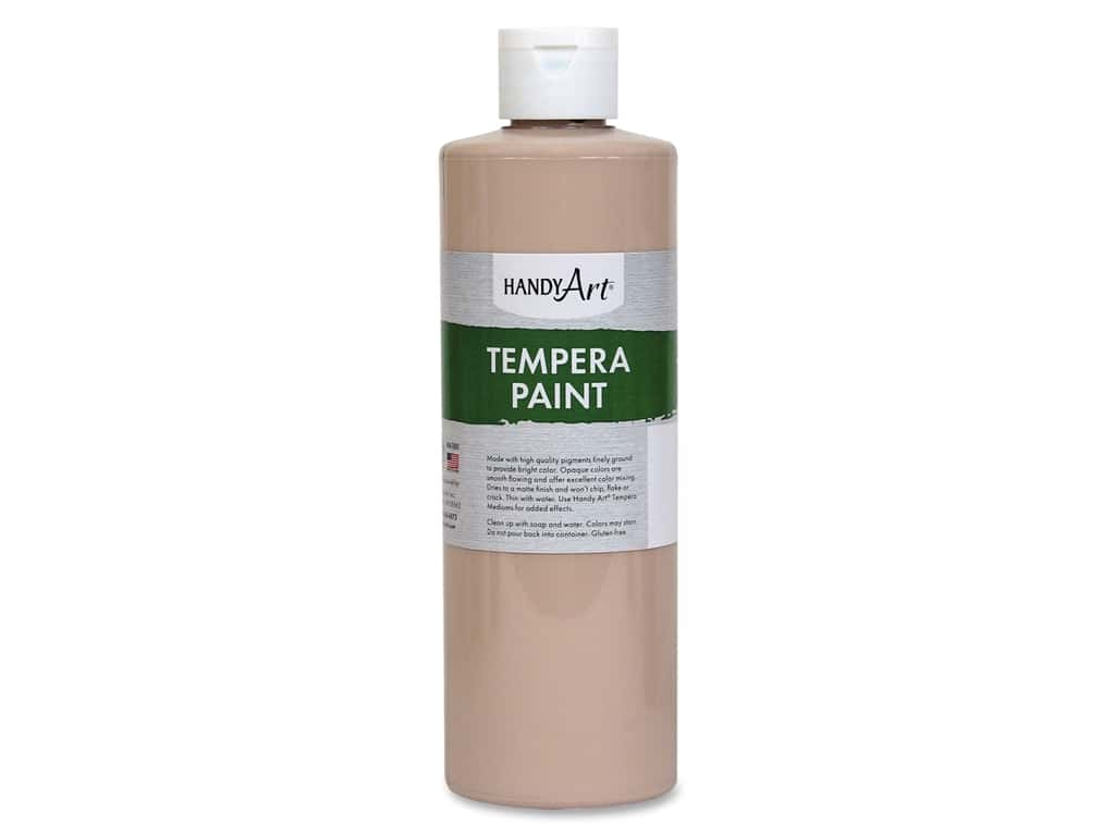 Handy Art Tempera Paint 16 oz. Peach