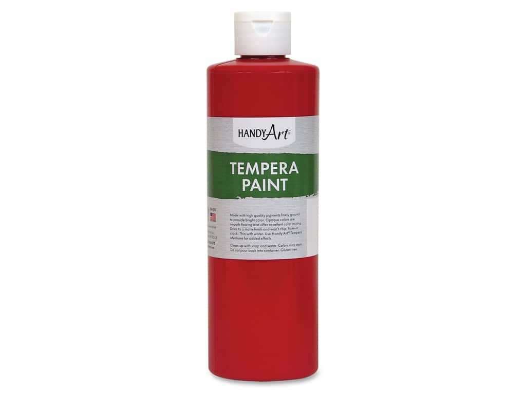 Handy Art Tempera Paint 16 oz. Red