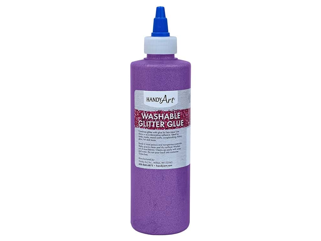 Handy Art Glitter Glue Washable 8 oz Violet