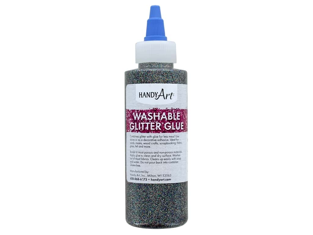 Handy Art Glitter Glue Washable 4 oz Multi