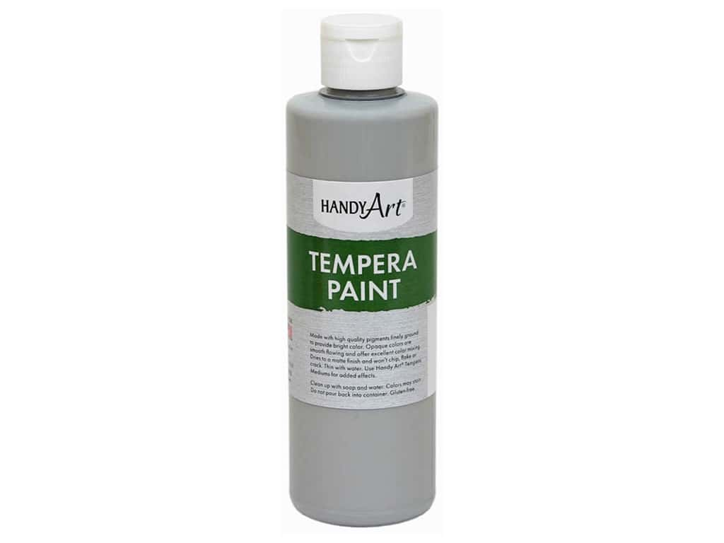 Handy Art Tempera Paint 8 oz. Gray