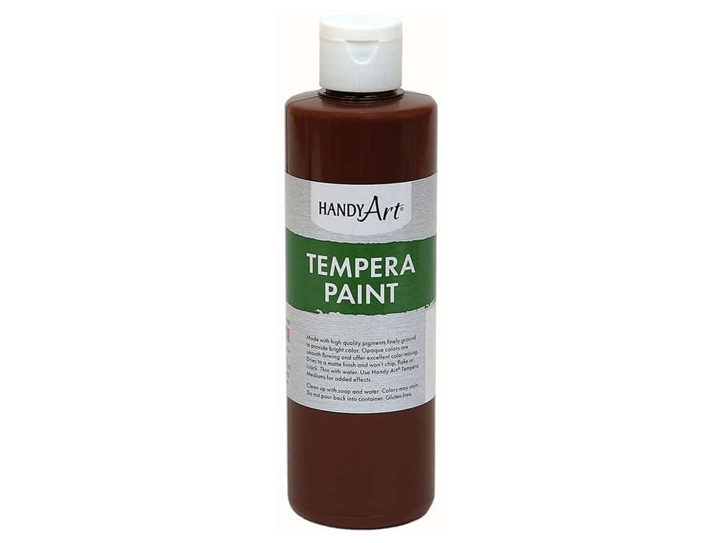 Handy Art Tempera Paint 8 oz. Brown