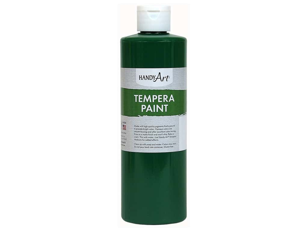 Handy Art Tempera Paint 8 oz. Green