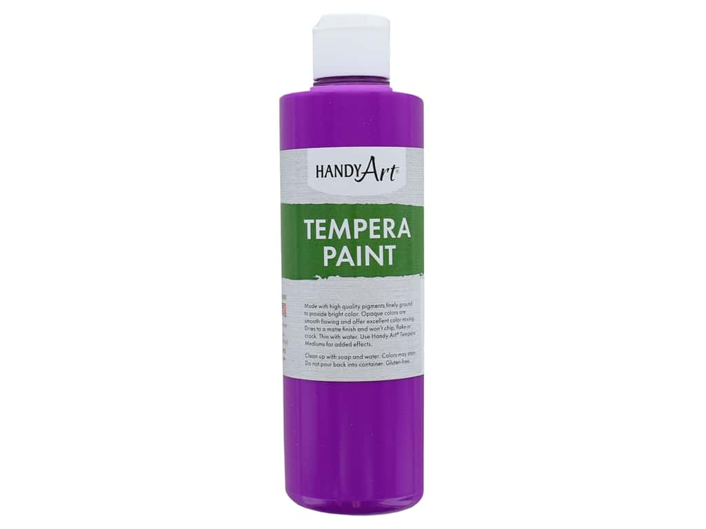Handy Art Tempera Paint 8 oz. Fluorescent Violet