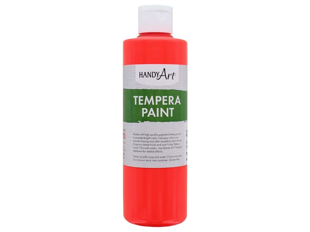 Handy Art Tempera Paint 8 oz. Fluorescent Red
