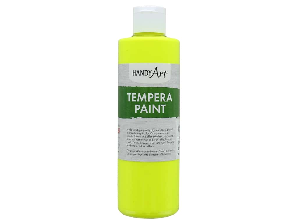 Handy Art Tempera Paint 8 oz. Fluorescent Yellow