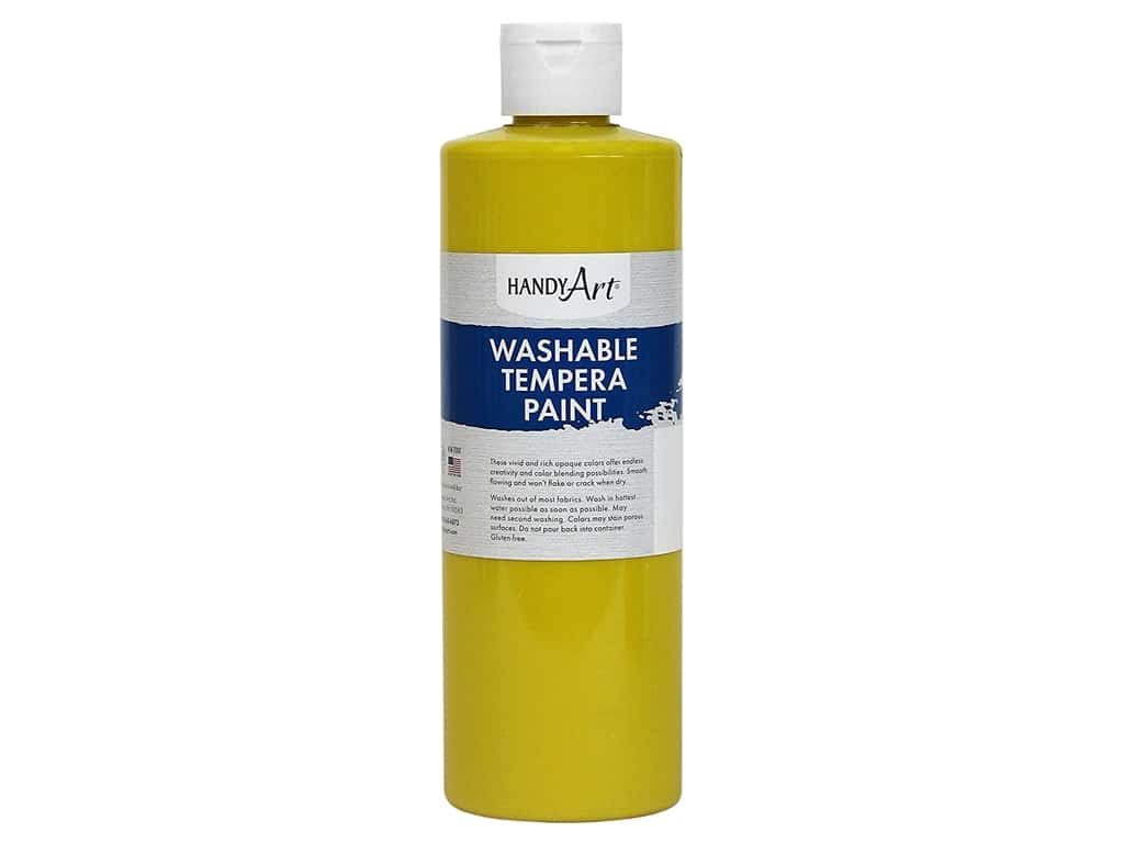 Handy Art Washable Tempera Paint 16 oz. Yellow