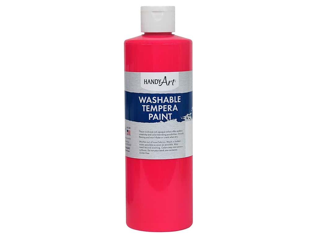 Handy Art Washable Tempera Paint 16 oz. Fluorescent Hot Pink