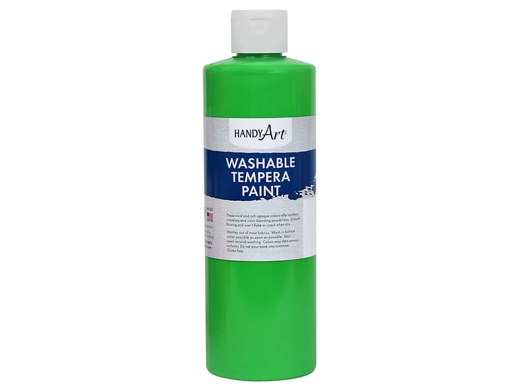Handy Art Washable Tempera Paint 16 oz. Fluorescent Green