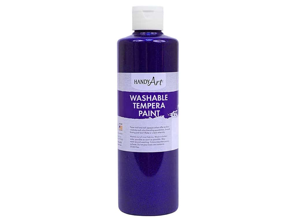 Handy Art Washable Tempera Paint 16 oz. Glitter Violet