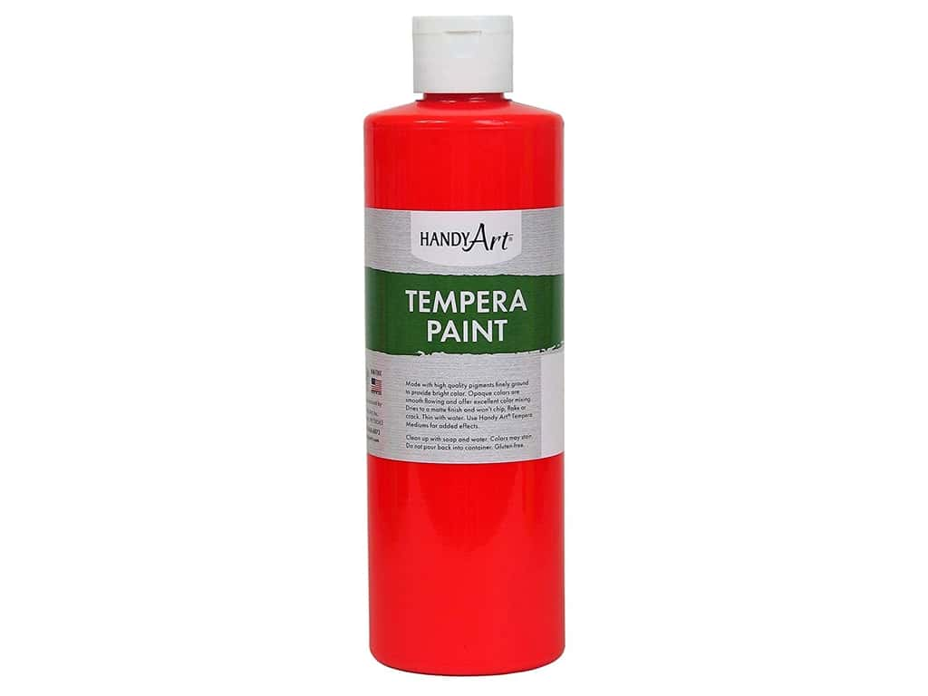 Handy Art Tempera Paint 16 oz. Fluorescent Red