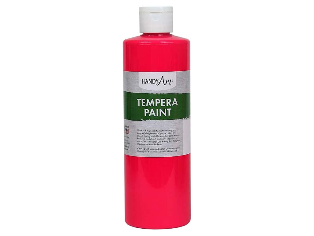 Handy Art Tempera Paint 16 oz. Fluorescent Hot Pink