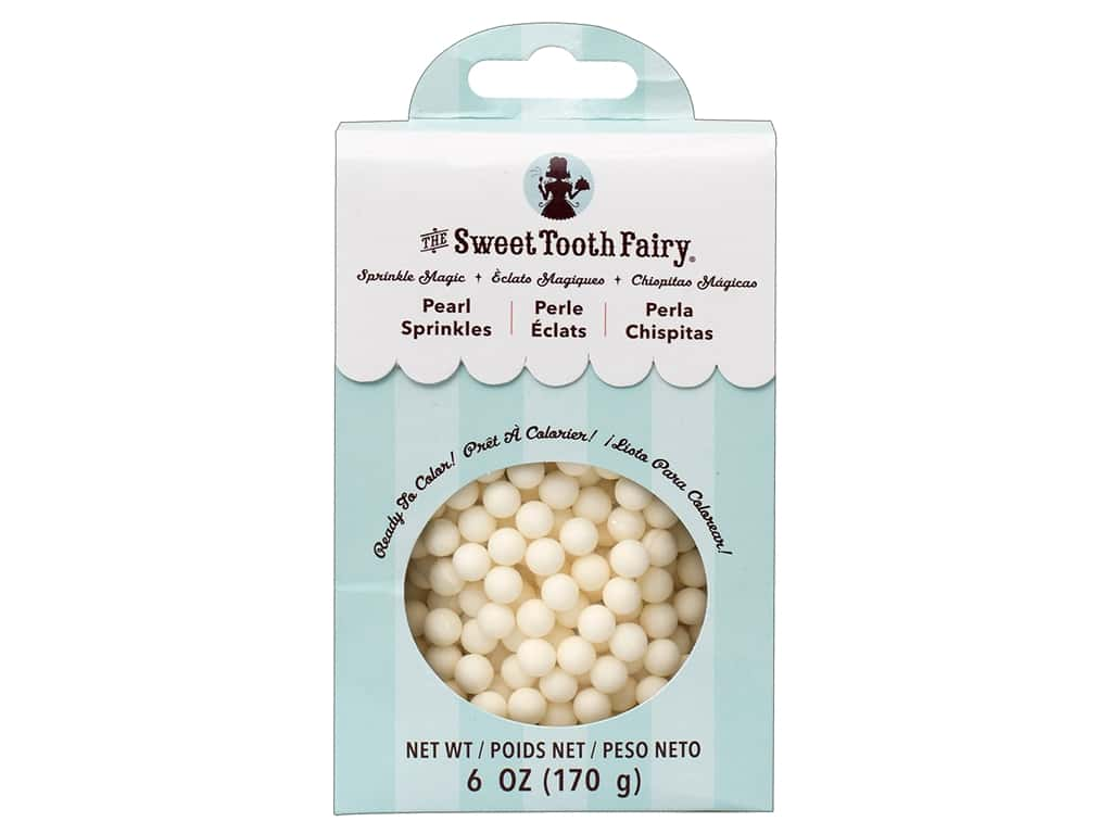 American Crafts Sweet Tooth Fairy Pearls White 6 oz