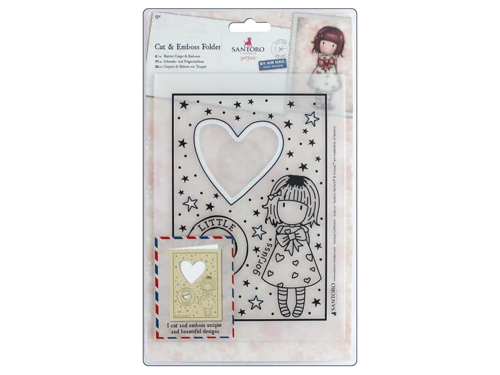 Docrafts Santoro Gorjuss Cut/Emboss Folder Heart