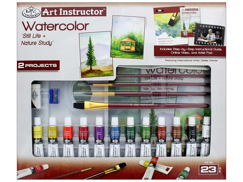 Royal Set Art Instructor Water Color Paint