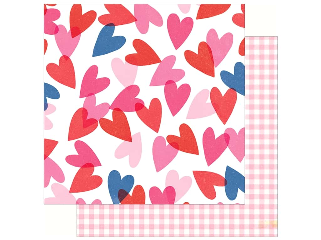 Crate Paper Collection Main Squeeze Paper 12 in. x 12 in. Heart Eyes (25 pieces)