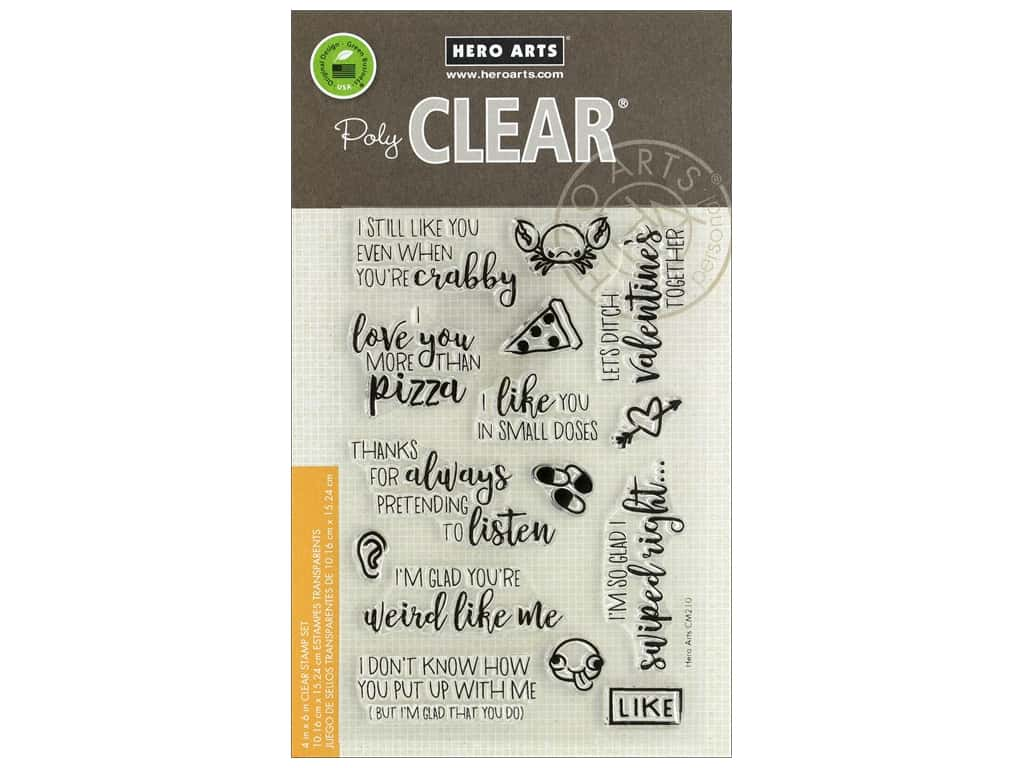 Hero Arts Poly Clear Stamp I Love You More Than Pizza