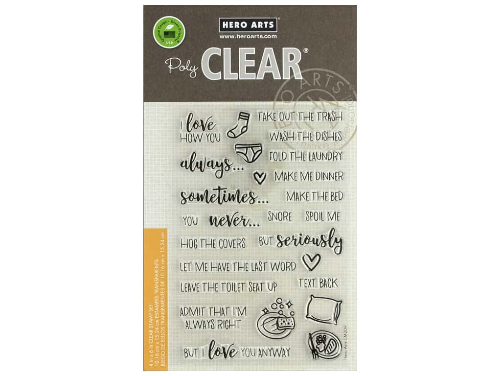 Hero Arts Poly Clear Stamp I Love How You