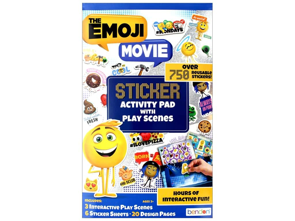 Bendon Sticker Activity Pad Book Emoji Movie