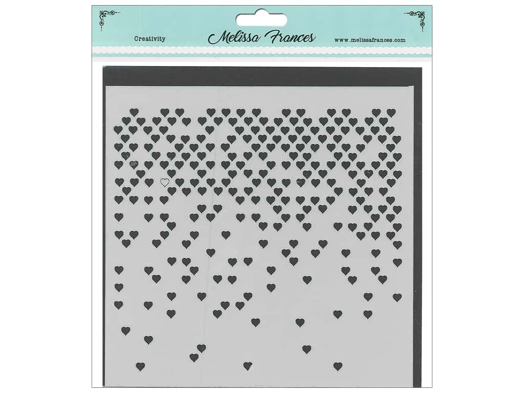 Melissa Frances Stencil 6 x 6 in. Hearts Missing