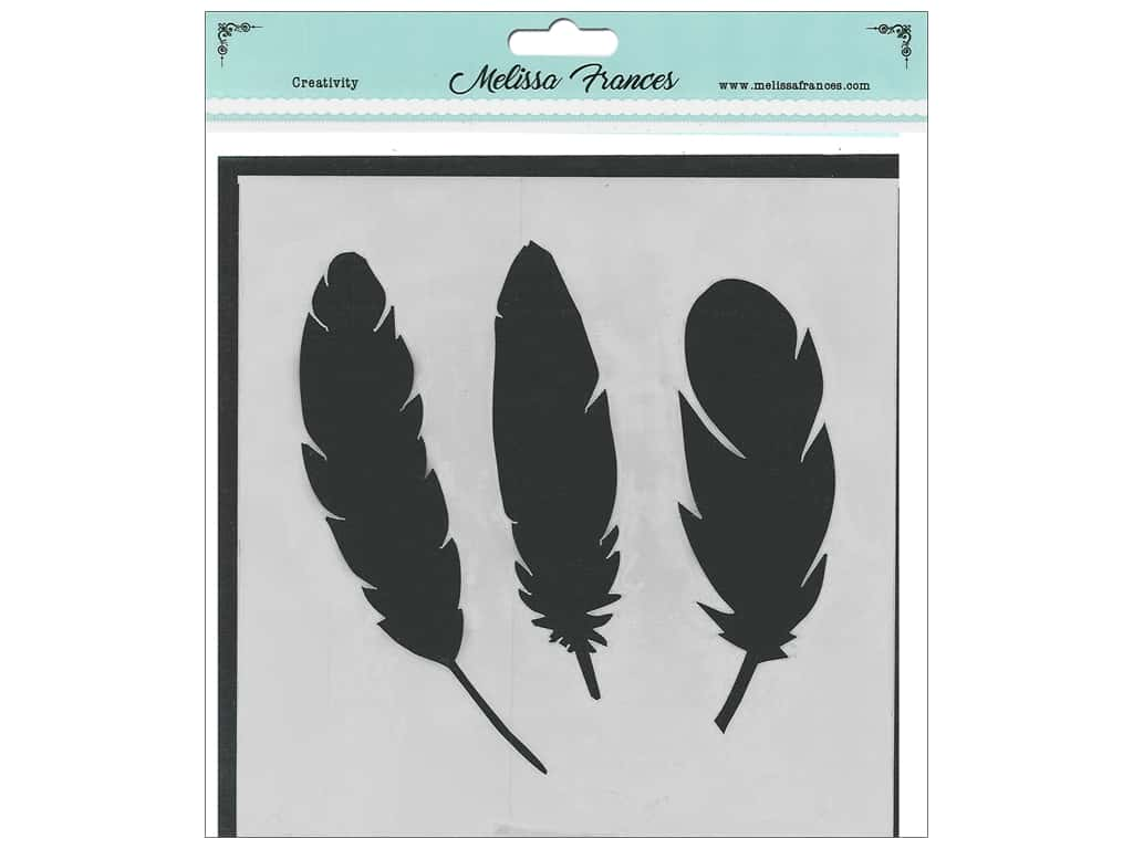 Melissa Frances Stencil 6 x 6 in. 3 Feathers
