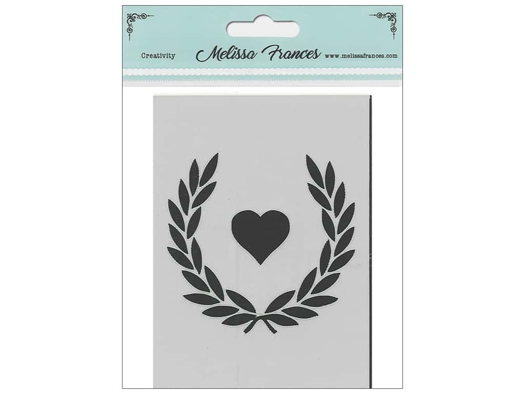Melissa Frances Stencil 3 x 4 in. Wreath Heart