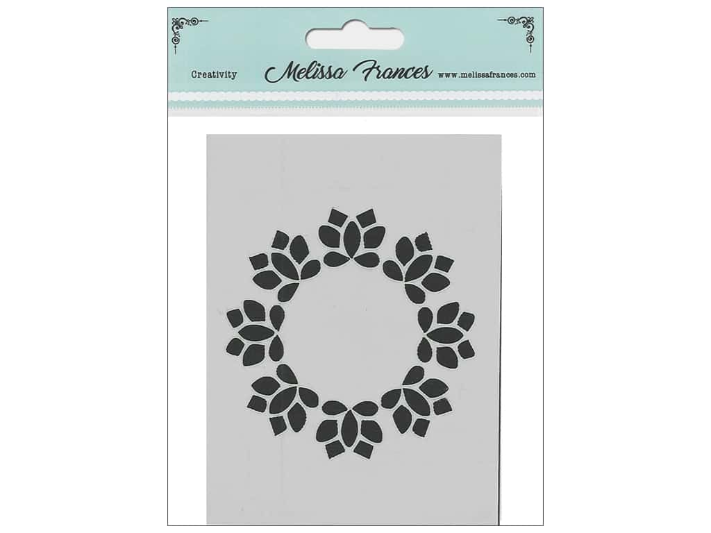 Melissa Frances Stencil 3 x 4 in. Wreath