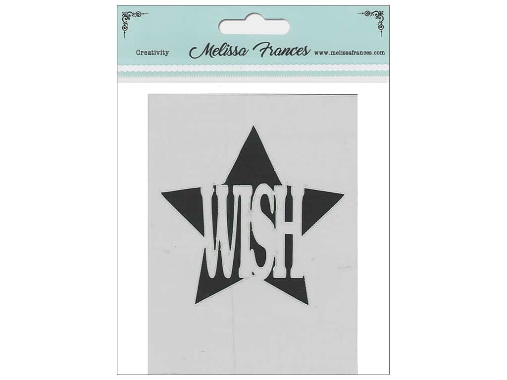 Melissa Frances Stencil 3 x 4 in. Wish