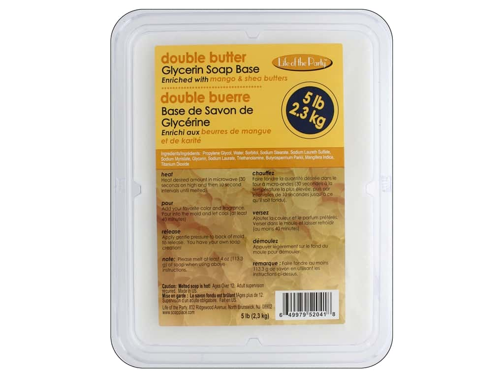 Life Of The Party Soap Base Glycerin 5 lb. Double Butter