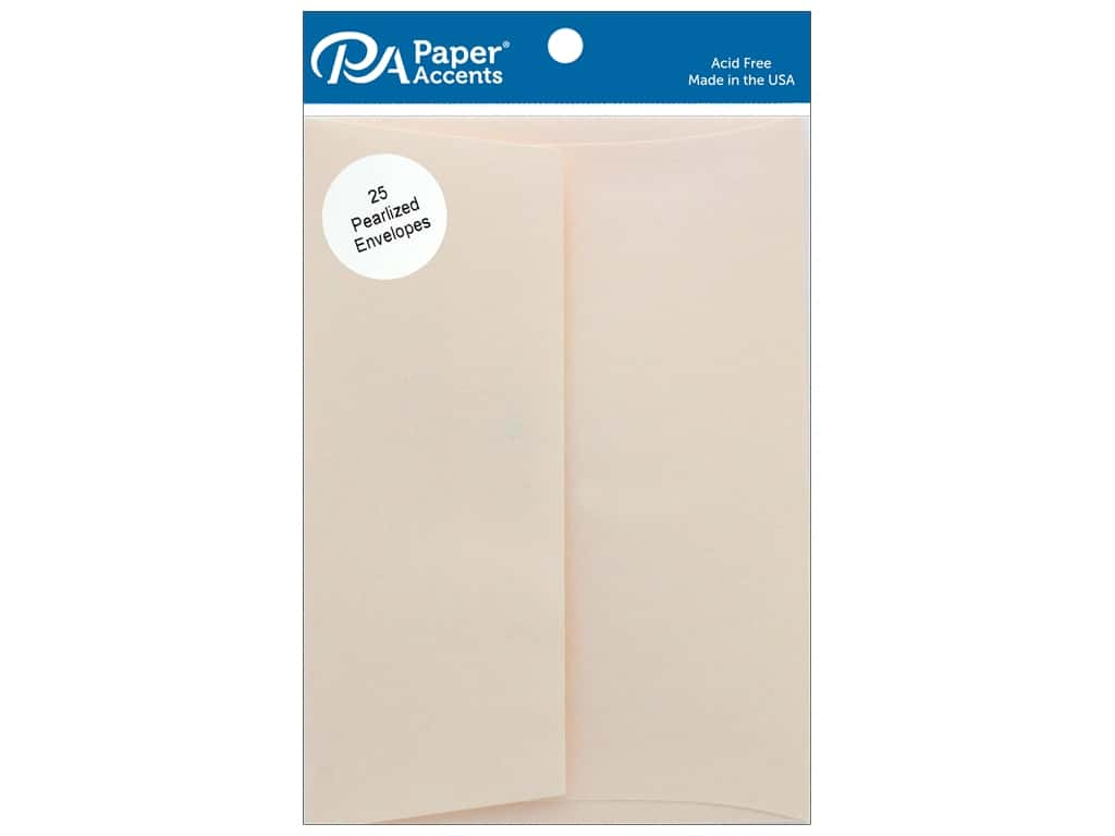 Paper Accents Envelope 5.25 in. x 7.25 in. Pearlized Cameo 25 pc