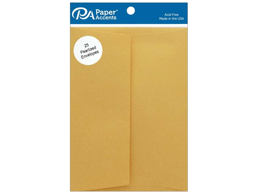 Paper Accents Envelope 5.25 in. x 7.25 in.  Pearlized 22 kt Gold 25 pc